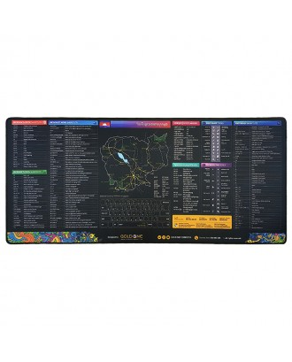 Mouse Pad Extra Large Gold One