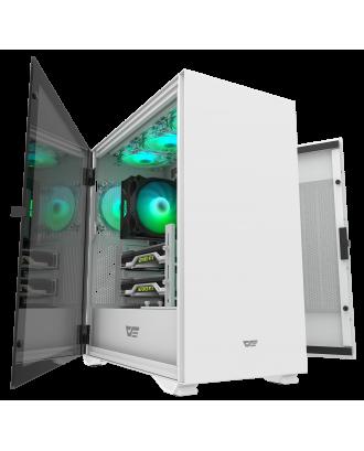 darkFlash DLX22 White ( Support ATX MB / USB 3.0 / Tempered Glass )