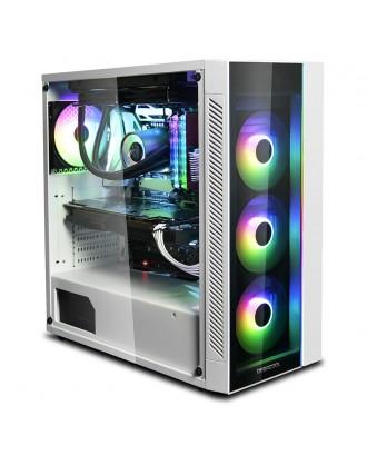 Deepcool MATREXX 55 ADD-RGB WH ( Support ATX MB / USB 3.0 / Tempered Glass )