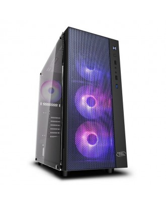 Deepcool MATREXX 55 MESH 4F ( Support ATX MB / USB 3.0 / Tempered Glass / Included ARGB Fan x 4)