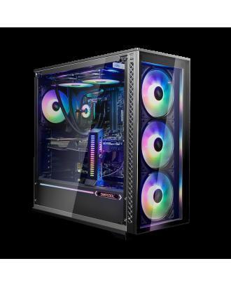 Deepcool MATREXX 70 ADD-RGB 3F ( Support ATX MB / USB 3.0 / Tempered Glass / Included ARGB Fan x 3)