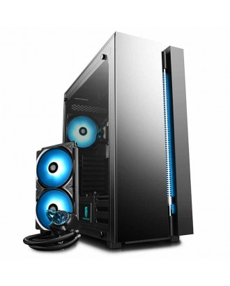 Deepcool NEW ARK 90 ( Support ATX MB / USB 3.0 / Tempered Glass / Included Liquid Cooler )