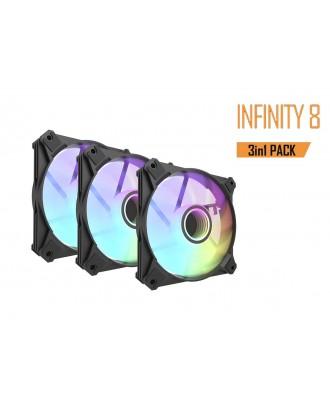 Darkflash Infinity 8 3-in-1 ( 3 x fans 12cm / ARGB Sync )