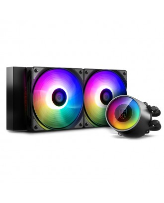 DeepCool Castle 240 RGB V2 ( Liquid Cooling Dual Fans / Support Intel and AMD CPU)