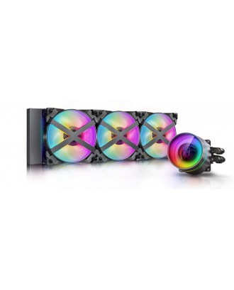 DeepCool Castle 360EX RGB ( Liquid Cooling three Fans / Support Intel and AMD CPU)