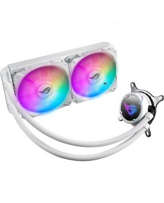 ROG STRIX LC 240 RGB White Edition ( Liquid Cooling two Fans / Support Intel and AMD CPU)