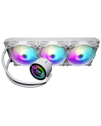 darkFlash DX360 White ( Liquid Cooling Three Fans / Support Intel and AMD CPU / ARGB Sync 5V )