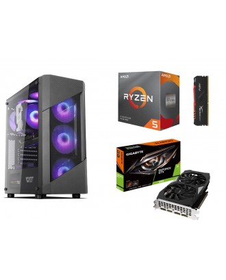 Desktop Gaming / Design ( Ryzen 5 3600 / Ram 8GB / SSD 256GB+ HDD 1TB / GTX1660 6GB )