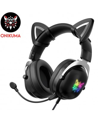 ONIKUMA X11 CAT EAR GAMING HEADSET (black Color )