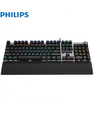 Philips SPK8614 USB Wired Mechanical Gaming Keyboard with Rainbow Backlit