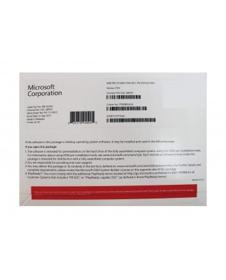 Microsoft Windows 10 Pro 64bit OEM DVD PN FQC-08929