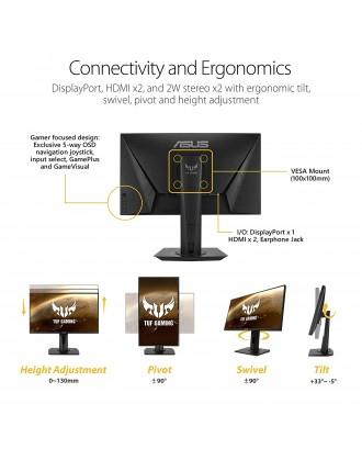 "ASUS TUF Gaming VG259Q Gaming Monitor 24.5""Full HD,144Hz, IPS, G-Sync compatible"