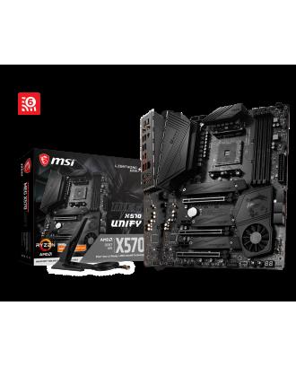 MSI MEG X570 Unify (LGA AM4  / Triple M.2 slots / Wifi 6 & Bluetooth )