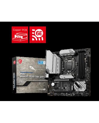 MAG B560M MORTAR WIFI (LGA 1200 / 4xDDR4 Slots / M.2 PCIe 4.0 / WiFi 6E )