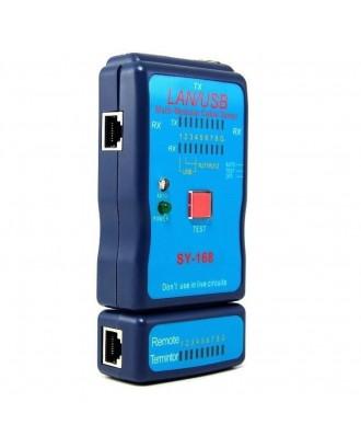 USB / LAN Cable Tester USB RJ45, RJ11,( SY-168 )