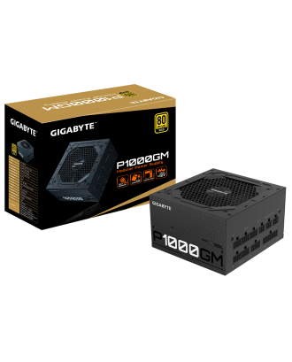 Gigabyte P1000GM ( 1000W / 80 Plus Gold / Japanese Capacitor )