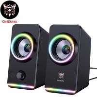 ONIKUMA X6 2.0 Channel RGB Light Gaming Speaker...