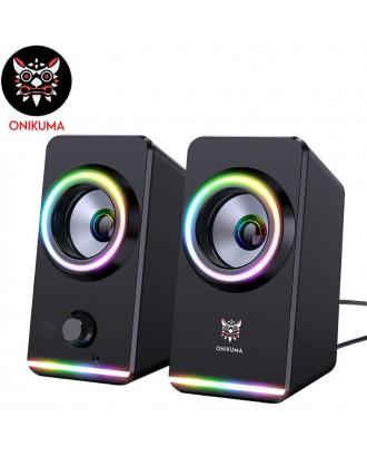 ONIKUMA X6 2.0 Channel RGB Light Gaming Speaker